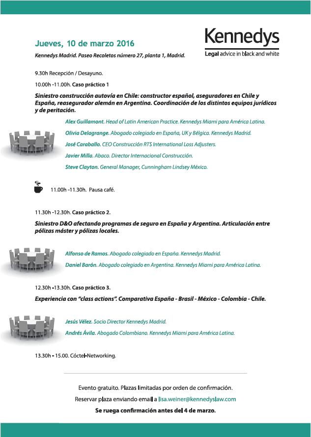 Seminario Madrid Gestion de Siniestros España LATAM Programa