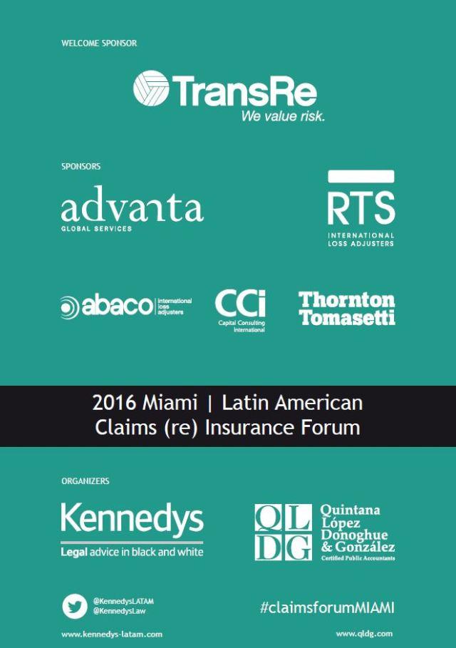 Claims Forum Miami 2016 Trasera