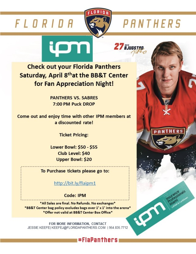 IPM Fan Appreciation Florida PANTHERS