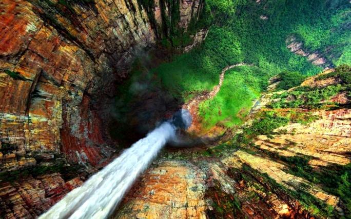 aerial falls
